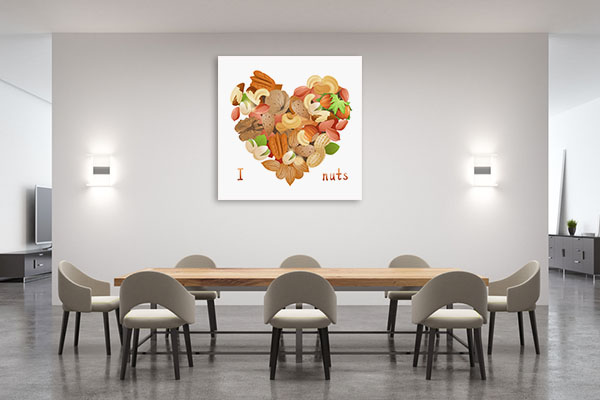 I Love Nuts Canvas Prints