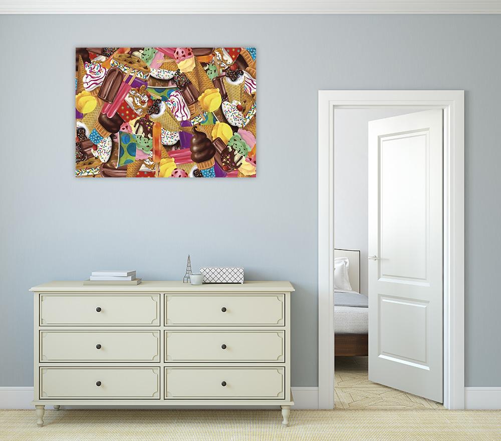 Collage Art Print on Canvas