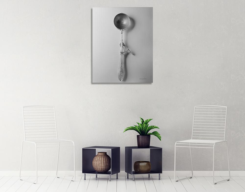 Ice Cream Scoop I Wall Art Print   Black and White Photo Art Print