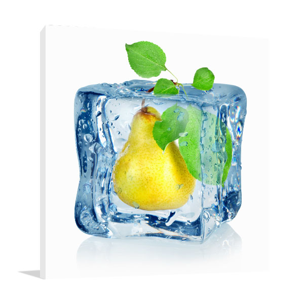 Ice Cube And Pear Wall Art