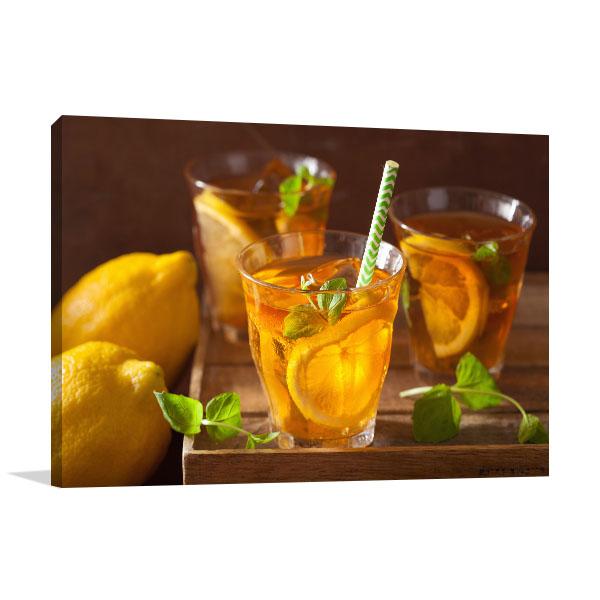 Ice Tea With Lemon Art Prints