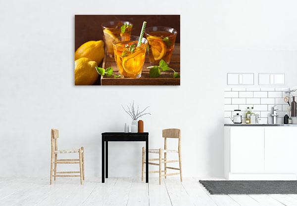 Ice Tea With Lemon Canvas Prints