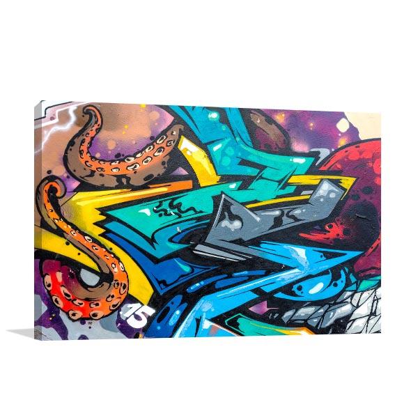 Iconic Urban Graffiti Canvas Art