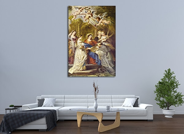Ildefonso Altar Canvas Art Print on the wall