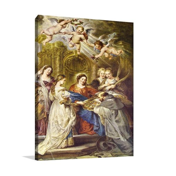 Ildefonso Altar Canvas Artwork