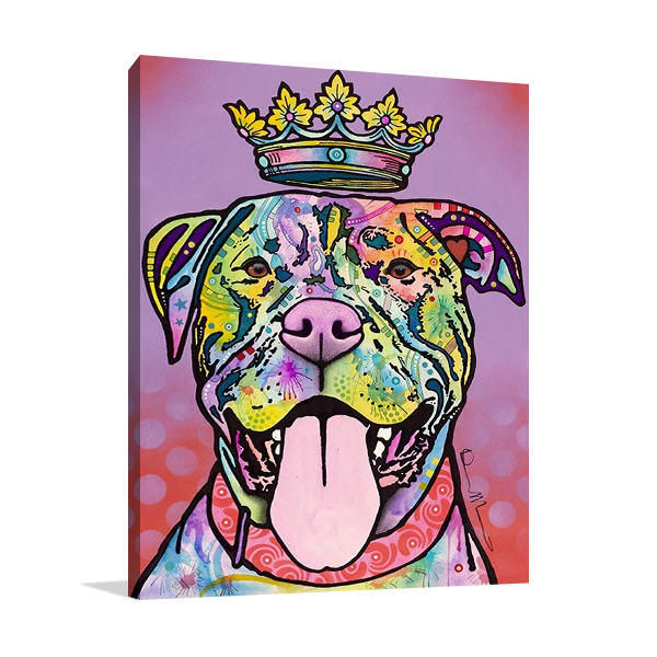 Imperial Dog Wall Canvas Print