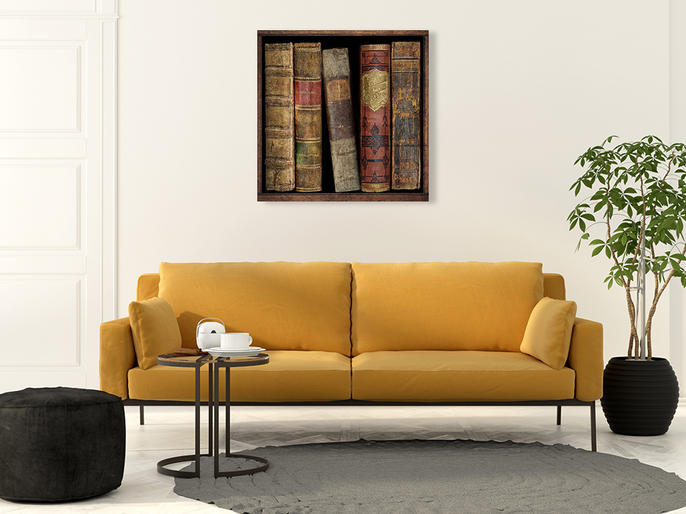 Vintage Library Print on Canvas