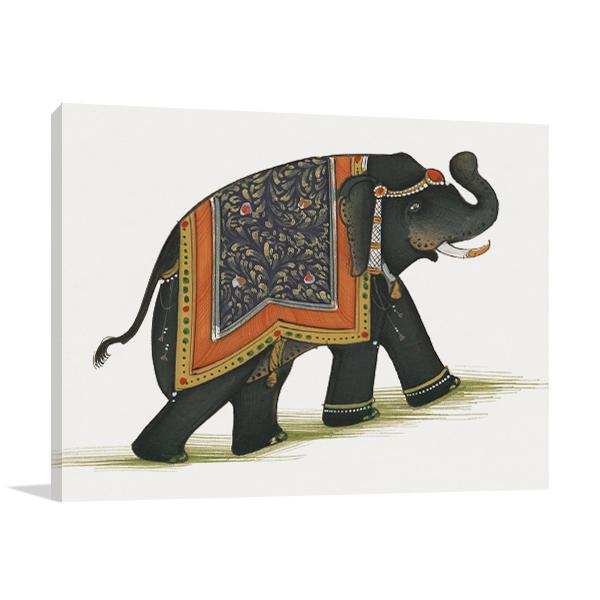 India Elephant I Wall Print