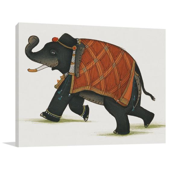 India Elephant II Art Print Canvas
