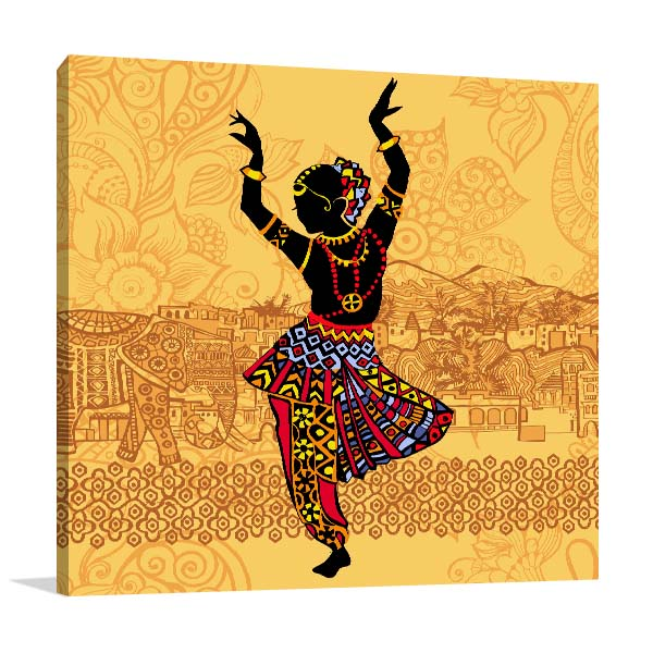 Indian Dance Prints Canvas