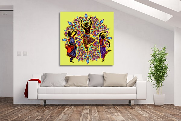 Indian Dancers Prints Canvas