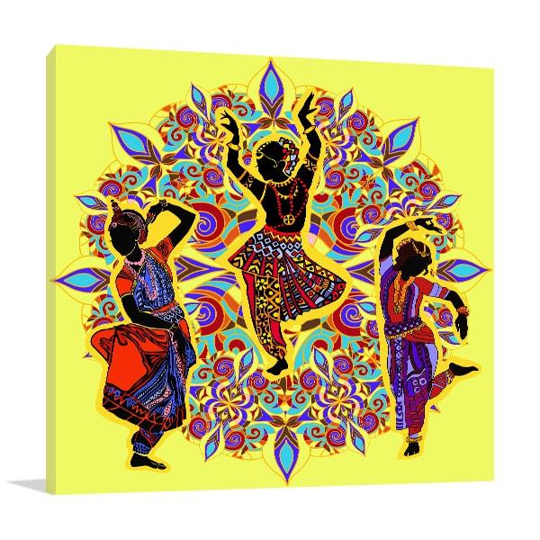 Indian Dancers Print Artwork