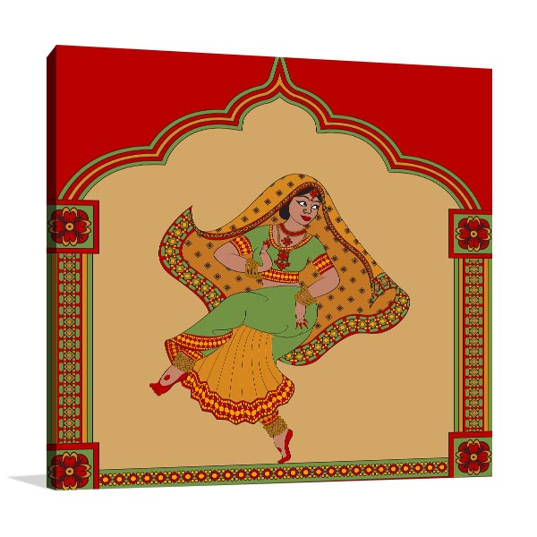 Indian Ethnic Dance Canvas Art Prints