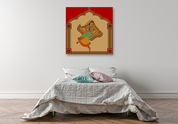 Indian Ethnic Dance Canvas Art
