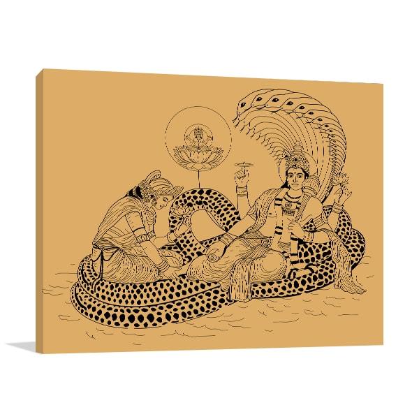 Indian God Canvas Art Prints