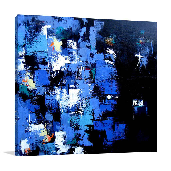Brooke Howie | Indigo Abstract Canvas Arts