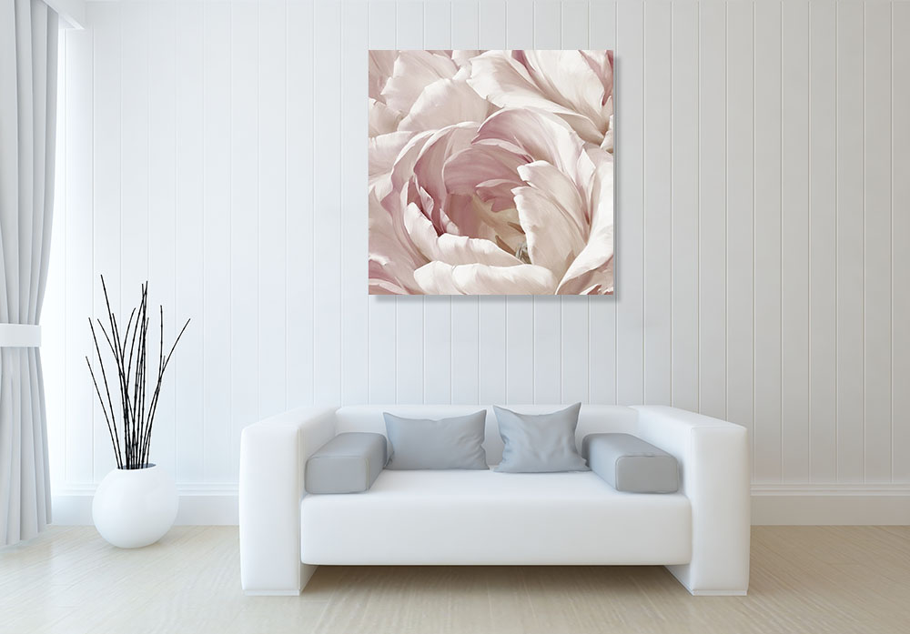 Pink Flower Print on Canvas Art
