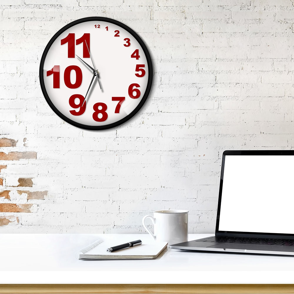 Needle Type Scandi Wall Clock Sydney