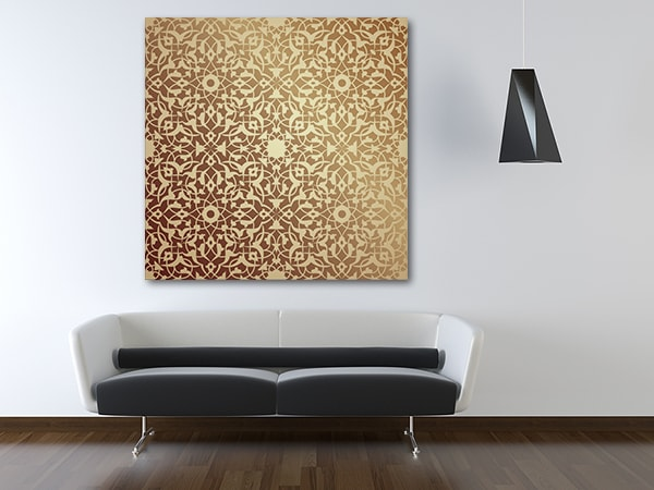 Islamic Floral Pattern Print Artwork