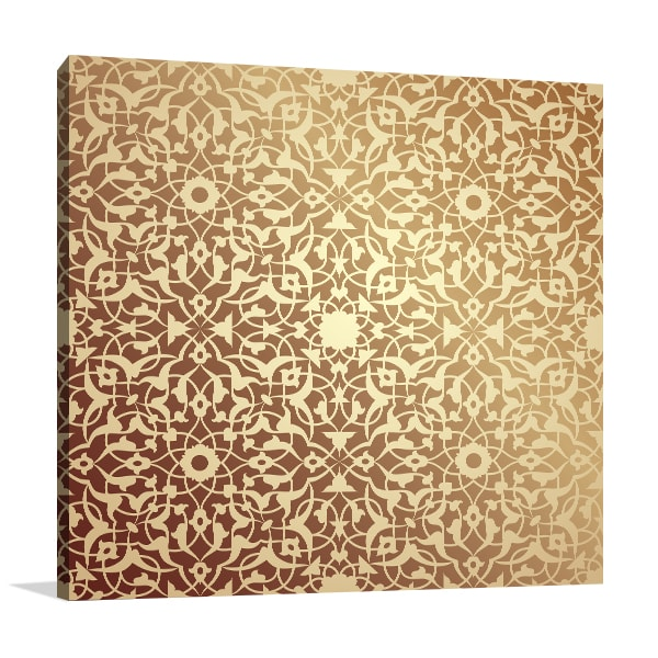 Islamic Floral Pattern Prints Canvas