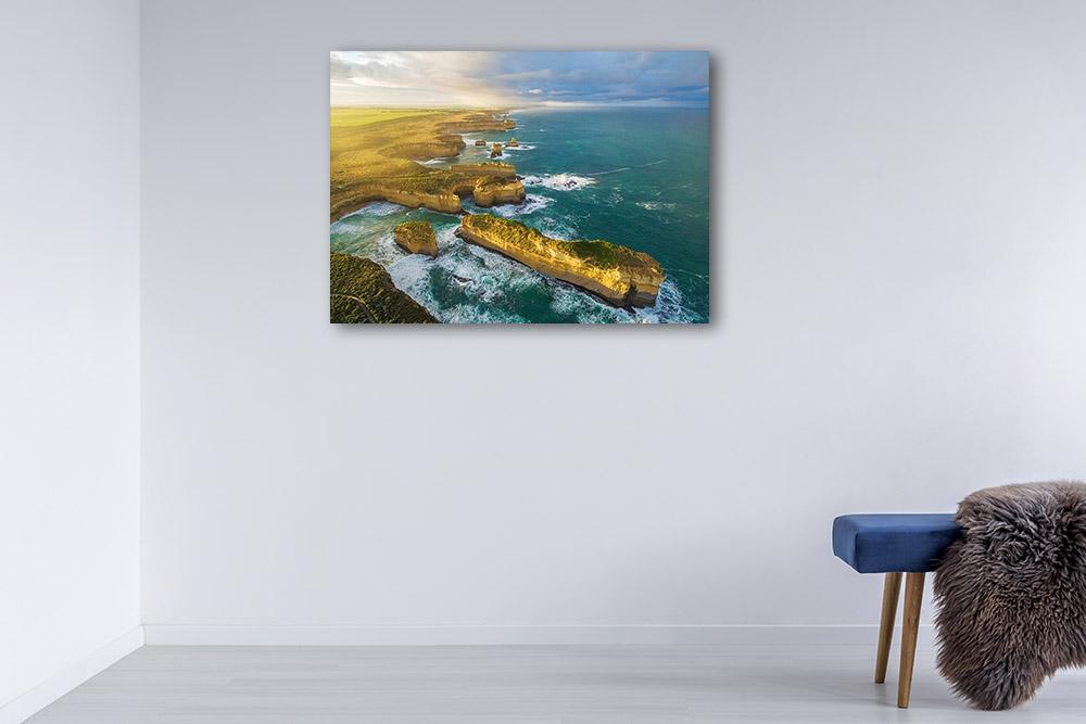 Australia Aerial View Print on Canvas