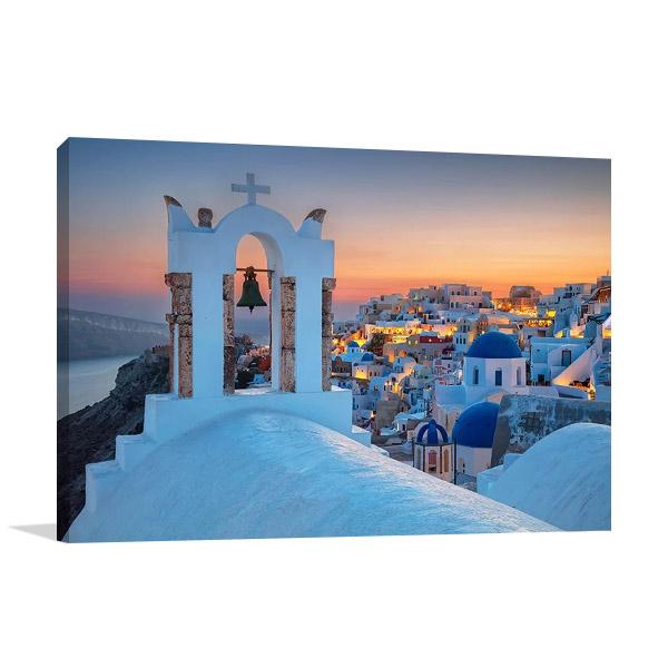 Island of Santorini Greece Canvas Print