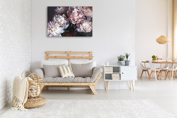 Isolated Floral Print Artwork