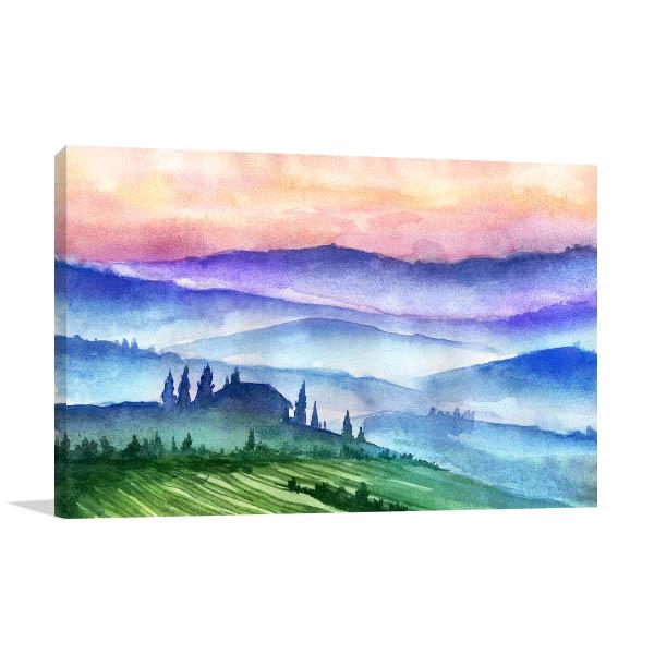 Italy Mountains Artwork