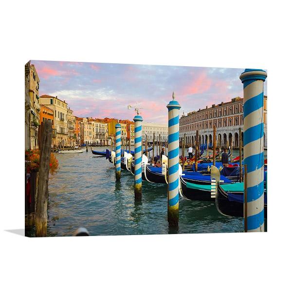 Italy Venice Canal Print on Canvas