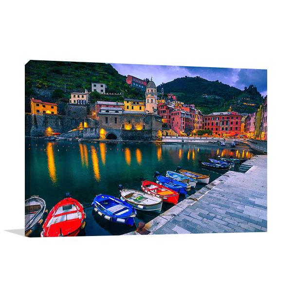 Canvas Print | Italy Vernazza Village