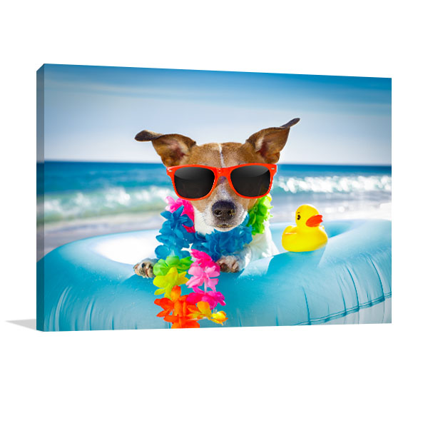 Jack Russel Dog Canvas Art