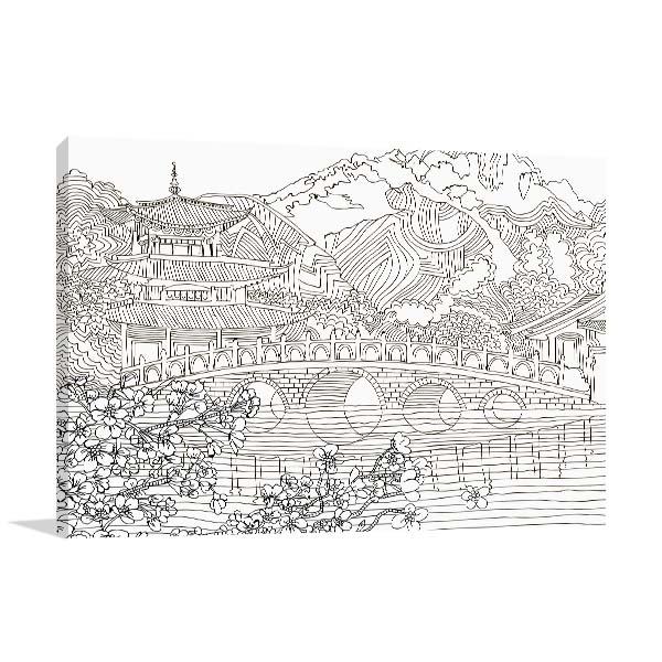 Japan Landscape Canvas Art