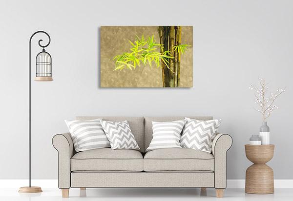 Japanese Bamboo Leaves Artwork