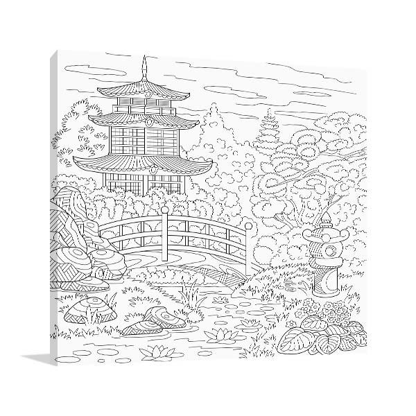 Japanese Garden Wall Art