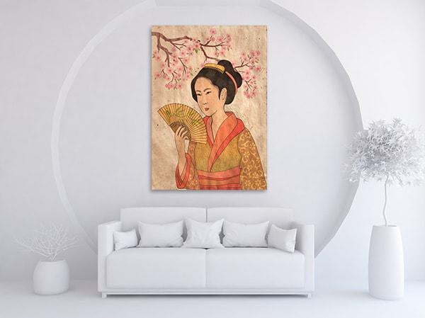 Japanese Geisha Print Artwork