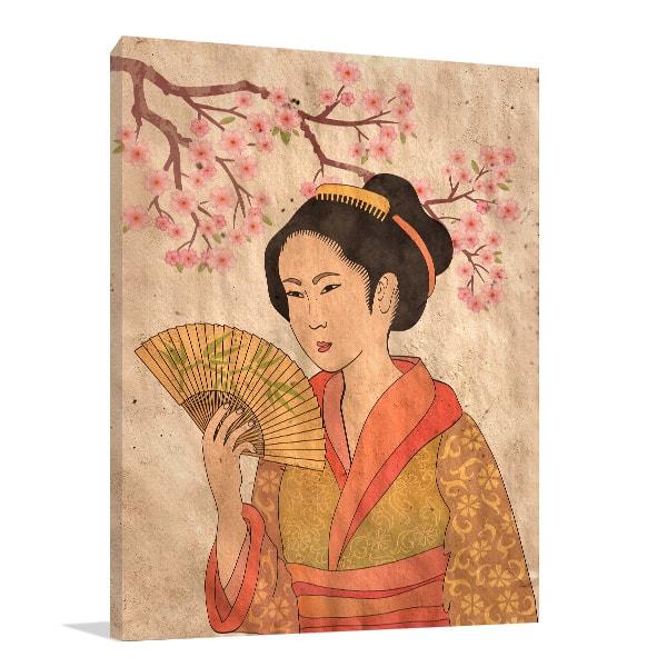 Japanese Geisha Wall Canvas