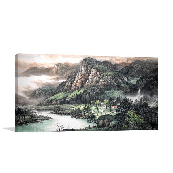 Japanese Landscape Prints Canvas