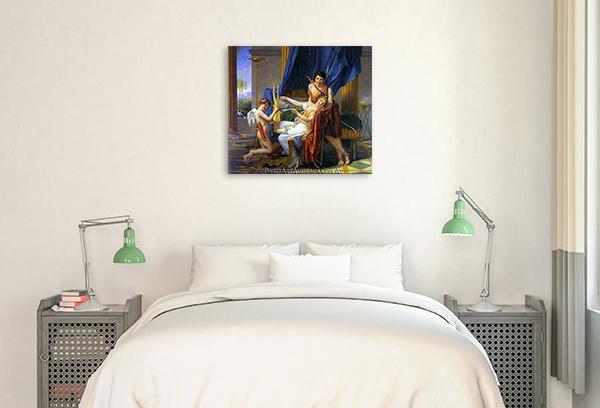 Sappho and Phaon | Hand Paint on Canvas