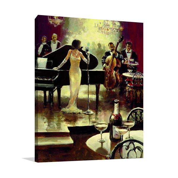 Jazz Band Art Print on Canvas