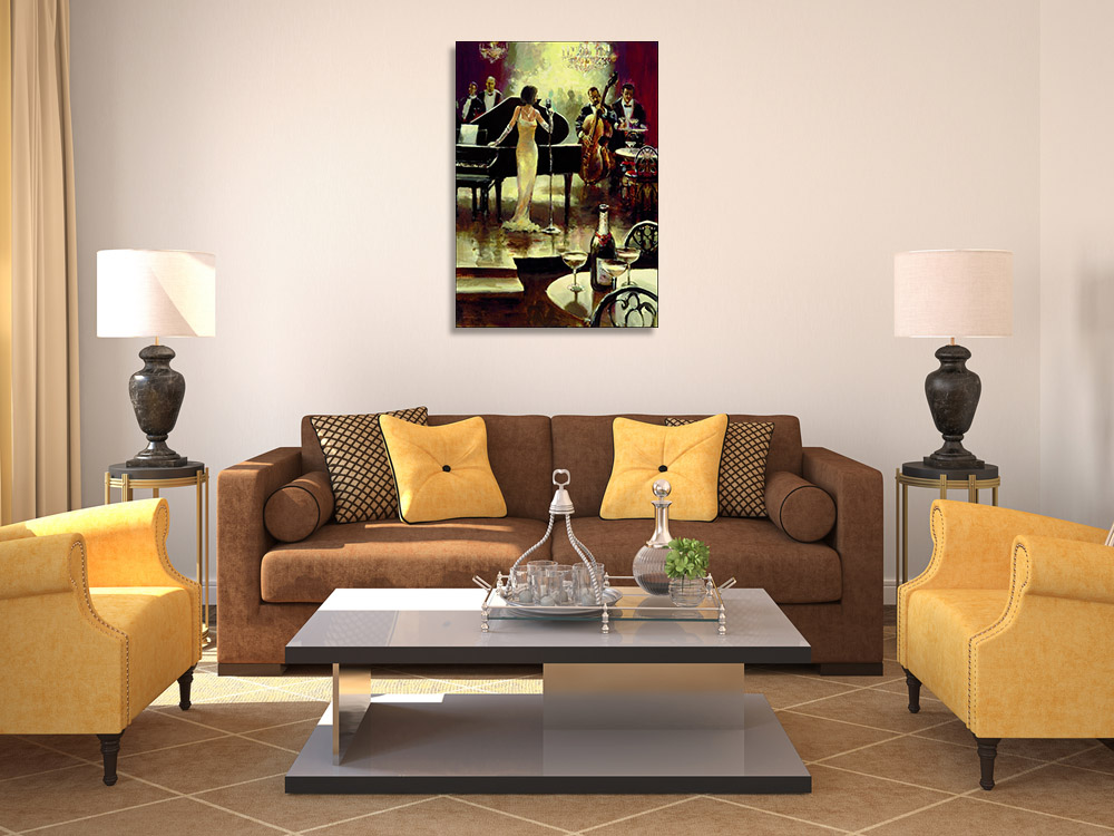 Wall Art Print Woman Singing
