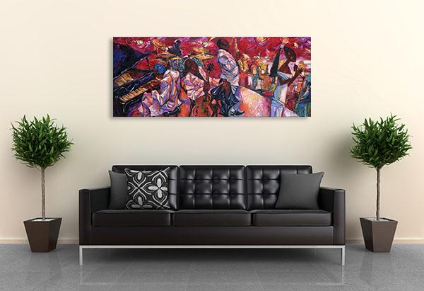 Jazz Club Canvas Prints