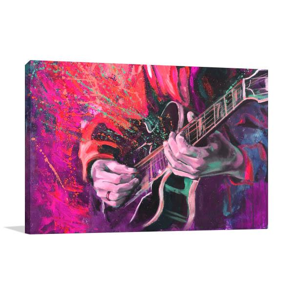Jazz Guitarists Hands Canvas Art Prints