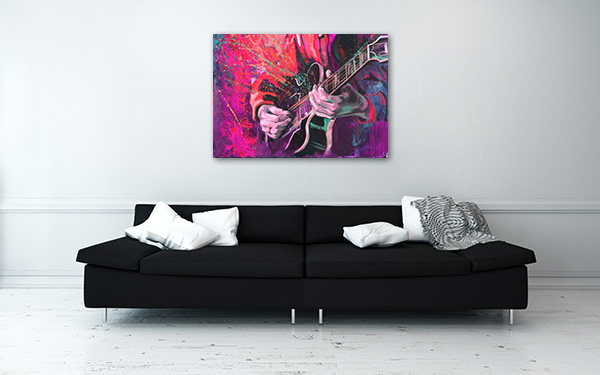 Jazz Guitarists Hands Prints Canvas