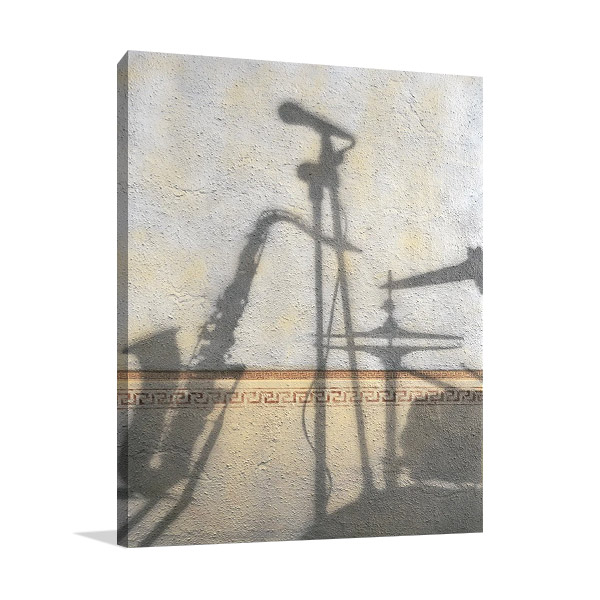 Canvas Print Jazz Instruments