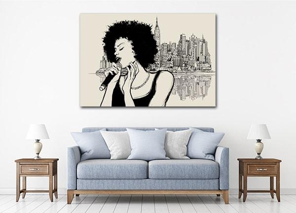 Jazz Singer Prints Canvas