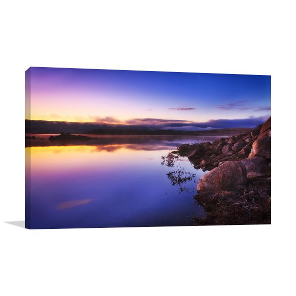 Jindabyne Lake Art Print Sunrise Picture Artwork