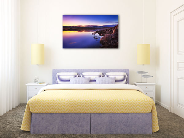 Jindabyne Lake Art Print Sunrise Wall Picture