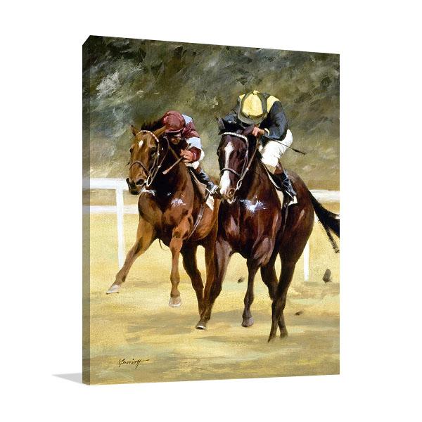 Jockey Horse Racing Canvas Print