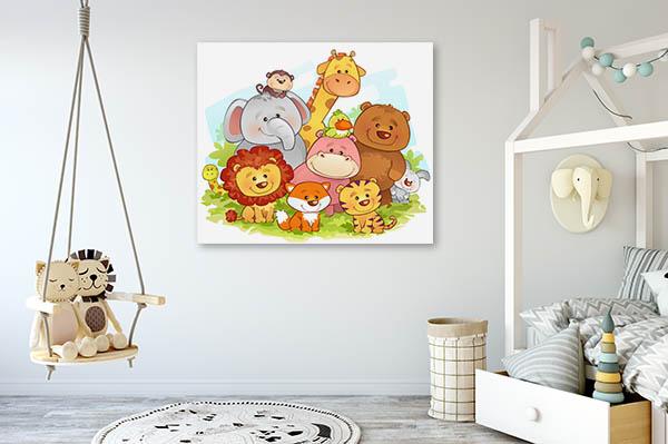 Jungle Animals Canvas Art Prints