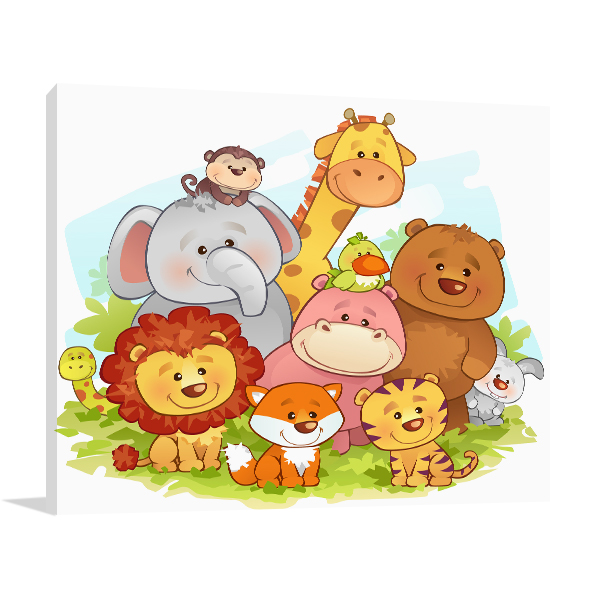 Jungle Animals Art Prints